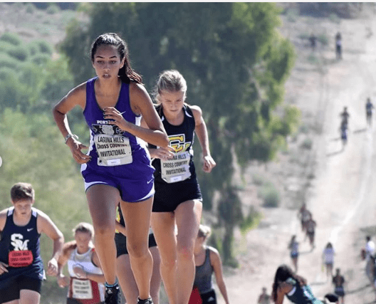 Izzy Green races in front of the competition at the Laguna Hills Invitational