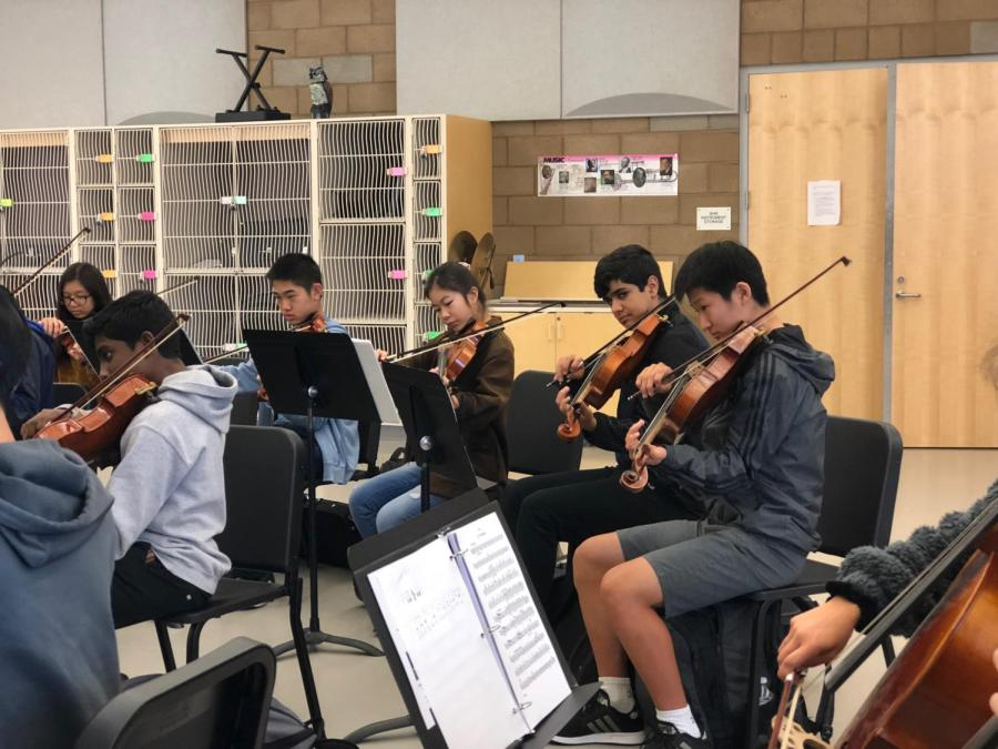 Concert Orchestra prepared for their performance by practicing weeks in advance to make the production as grand as can be.