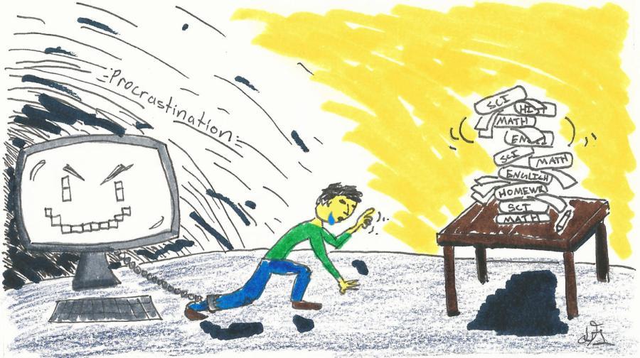 procrastination cartoon