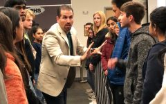 Every week, students work with Jon Resendez to practice pitching and suggesting solutions to lawmakers. The students met with different IUSD board member to hear the different needs of the district.