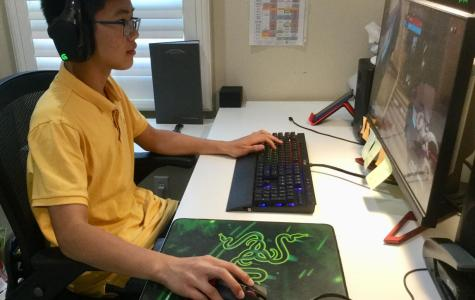 Freshman Justin Truong 'Watches Over' the eSports Team