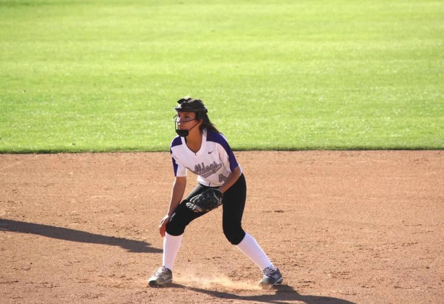 Shortstop+and+Sophomore+Sherine+Ismail+sets+to+catch+the+ball+during+the+last+game+of+the+season+against+Woodbridge+High.+This+year+was+Ismali%E2%80%99s+first+year+playing+as+a+shortstop%2C+her+freshman+year+she+played+second+base.+