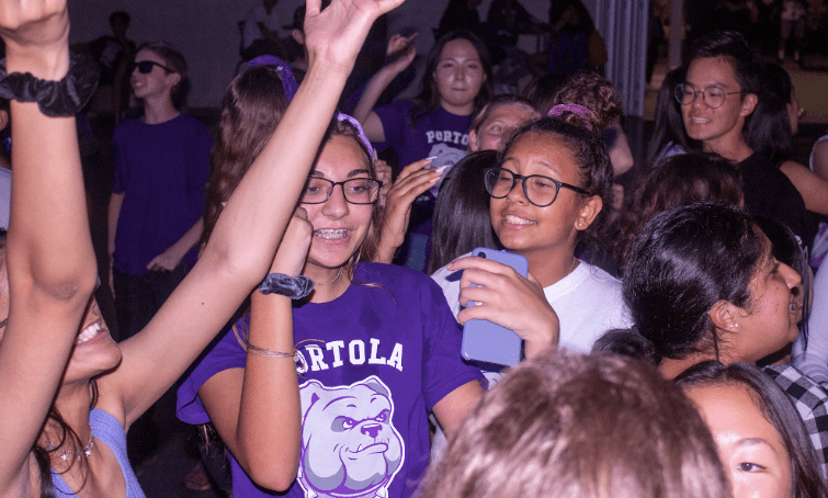 The dance served as a way to welcome the new freshman class, who were the largest group of the participants at the event, according to Francis.