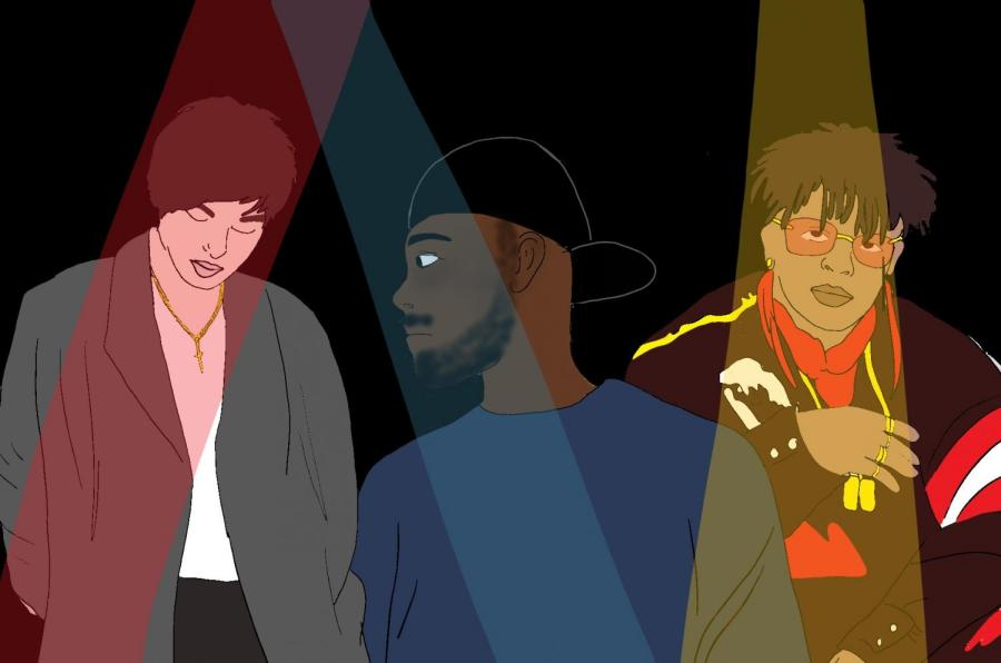 Musicians Joji (left), Bryson Tiller (middle) and 21 Savage (right) all released new hit albums within the last month for fans to play on repeat. Each artist made a comeback with a refreshing twist to their old styles, surprising many fans but disappointing others.
