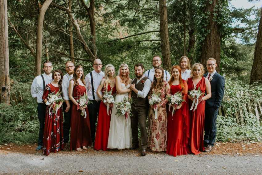 orcas island wedding bohemian bridal party