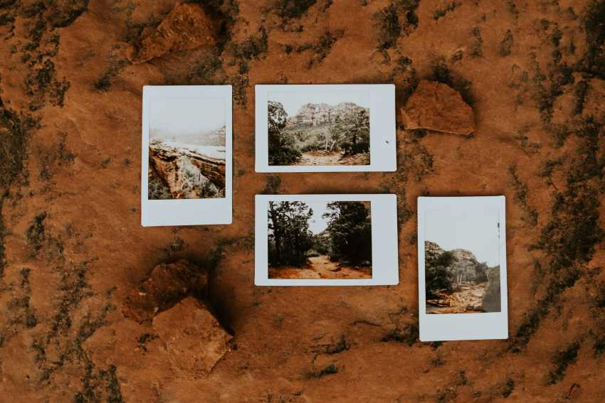 sedona polaroid cathedral rock devils bridge