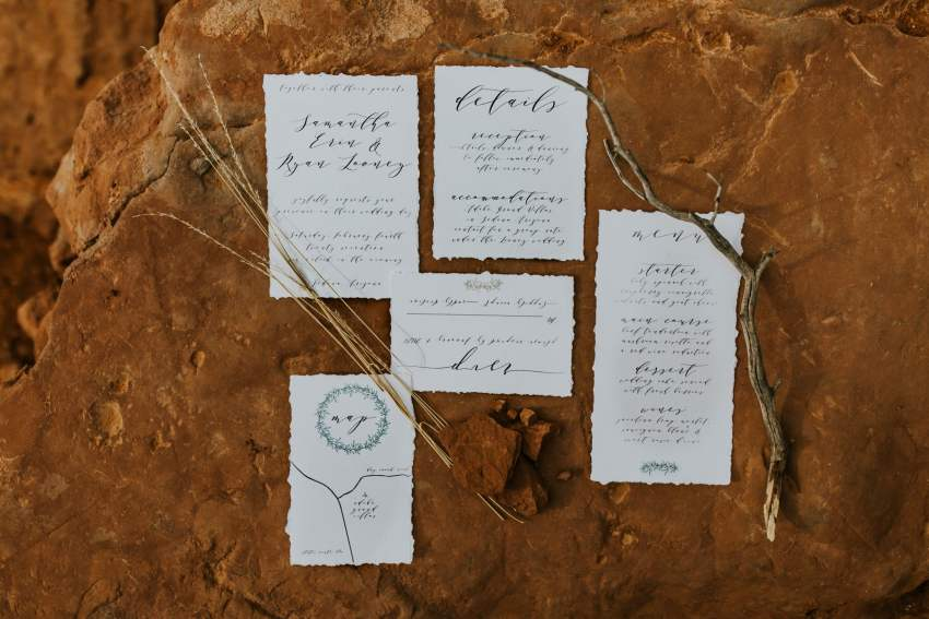 honeyb paper co calligraphy wedding invitations
