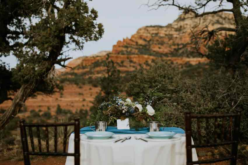 wedding table in sedona