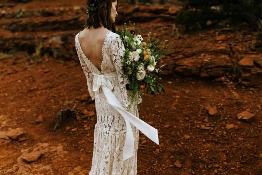 bohemian bride sedona