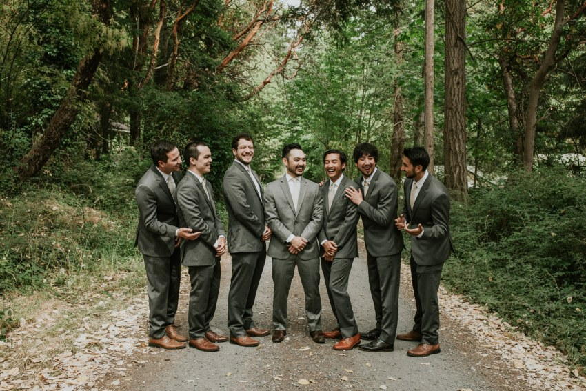 seattle wedding photographer cute groomsmen photo