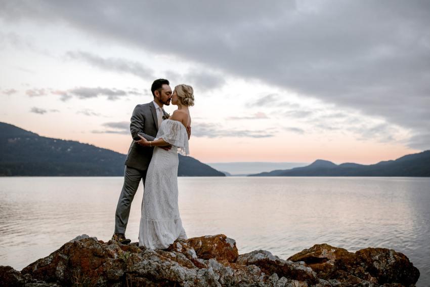 orcas island wedding sunset photos