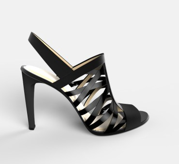 Sandalias negras tiras