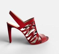 Sandalias con tiras rojas