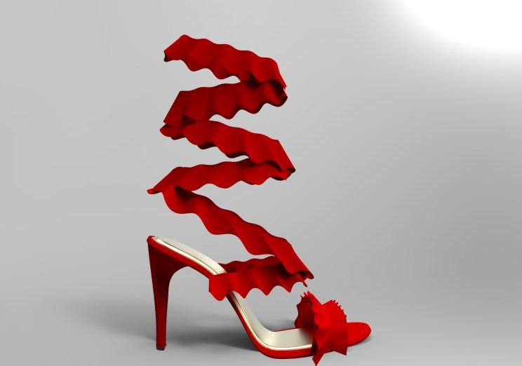 Sandalia volantes rojos