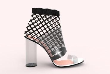 zapato vinilo y rejilla