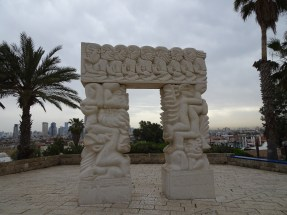 Modern artwork in the Old City of Jaffa