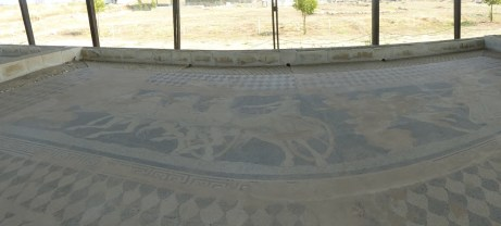 Ancient mosaics in Pella, birthplace of Alexander the Great