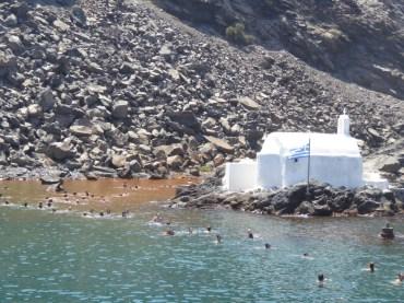 Hot springs at Palia Kameni
