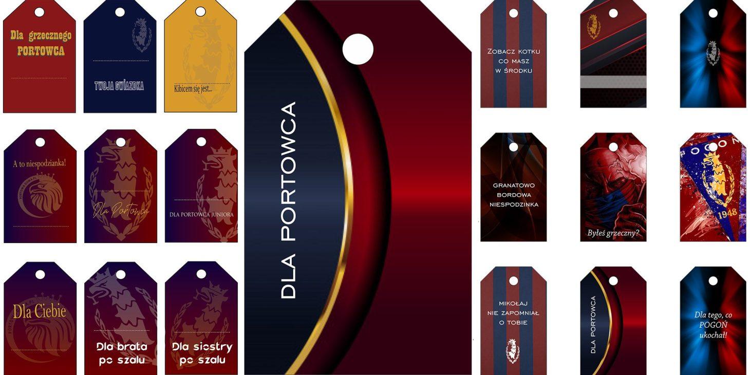 Bożonarodzeniowe etykiety prezentowe dla Portowca