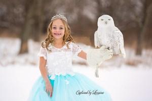 Princess with snowy owl