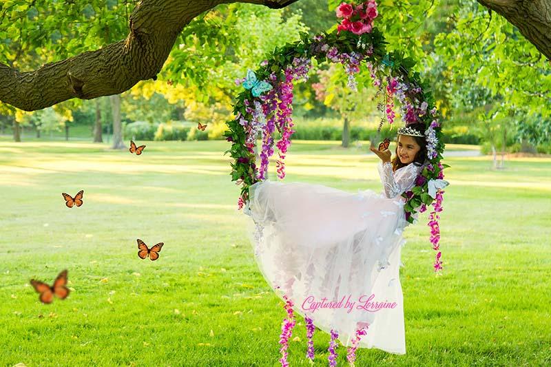 Princess-Photos-flower-swing-Illinois
