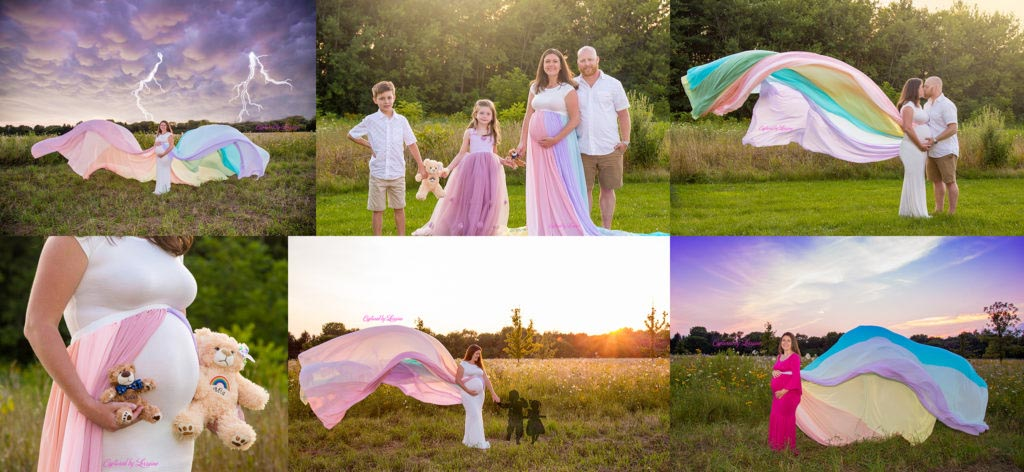 Rainbow Baby Maternity Session St Charles Illinois