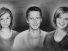 Familienportrait, oilfarbe Leinwand