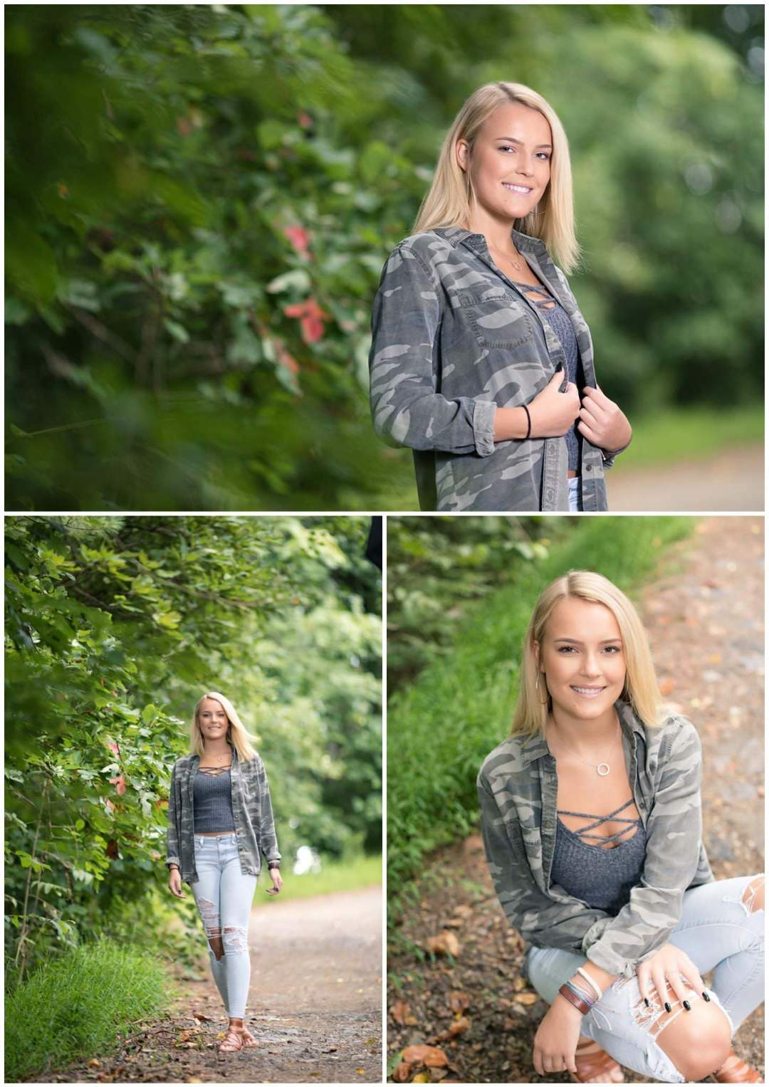 Outdoor senior portrait in the woods