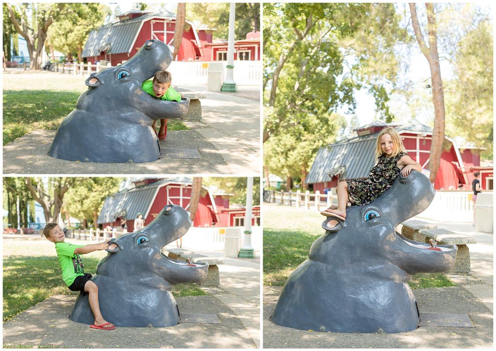fairytaletown in sacramento california hippo