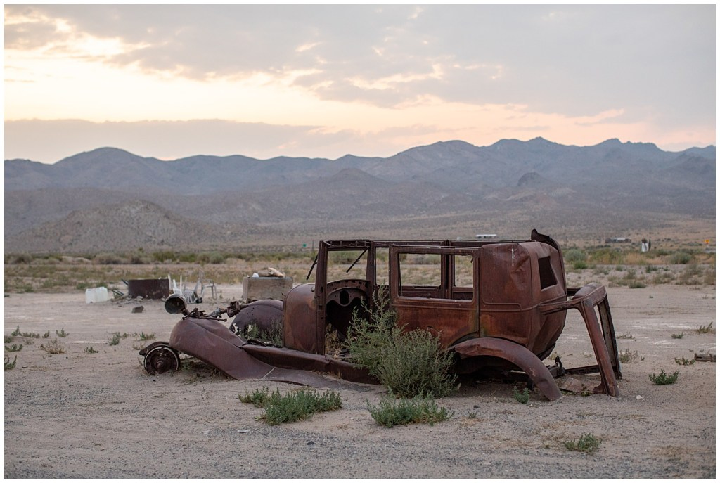 decaying vehicles on loneliest road in america