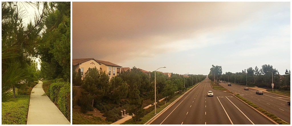 california fires looming over irvine ca