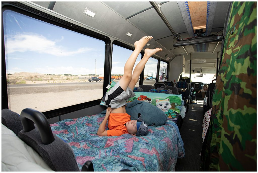bus in a bed for a child to sleep on