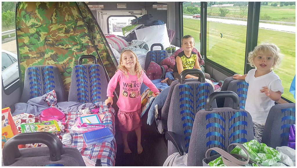 modified bus for road trip