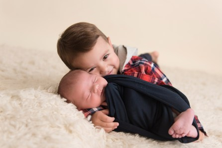 new baby brother snuggles