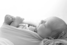 black and white newborn portfolio