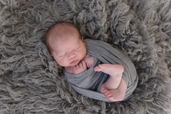 newborn wrapped