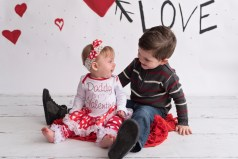 valentiens day mini brother and sister