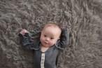 baby boy in gray