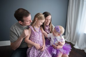 spring family session in studio