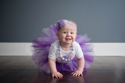 purple tutu birthday girl
