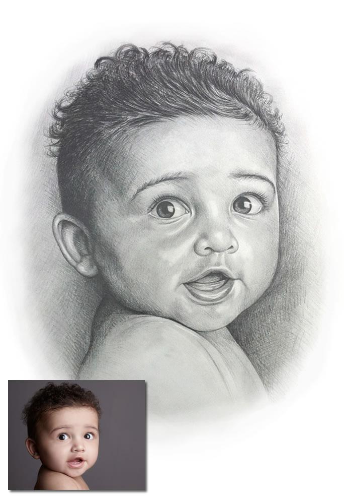 Commission drawing of baby