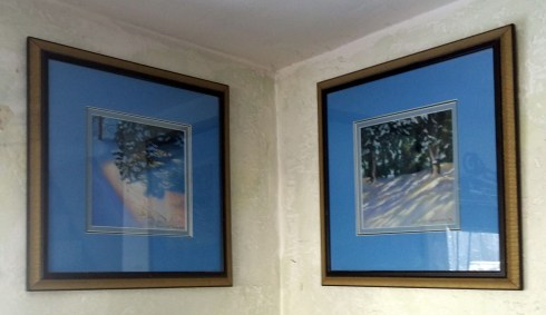 set of winter paintings