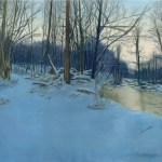 Dusk in the Woods, pastel, 31″ x 23″, 2007 © Bernadette E. Kazmarski