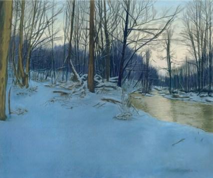 Dusk in the Woods, pastel, 31″ x 23″, 2007 © Bernadette E. Kazmarski