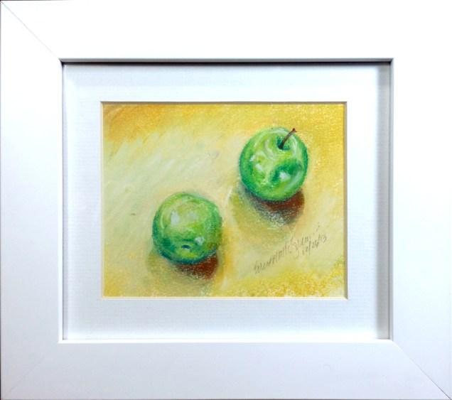 Afternoon Apples, pastel, 4 x 5, 2013 © Bernadette E. Kazmarski