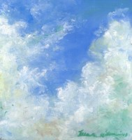 April Cloud Study, pastel, 9 x 9, 2013 © Bernadette E. Kazmarski