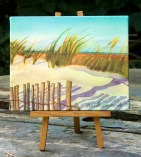 Evening Beach canvas print.