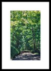 """Full-size giclee with 4"""" white mat."""