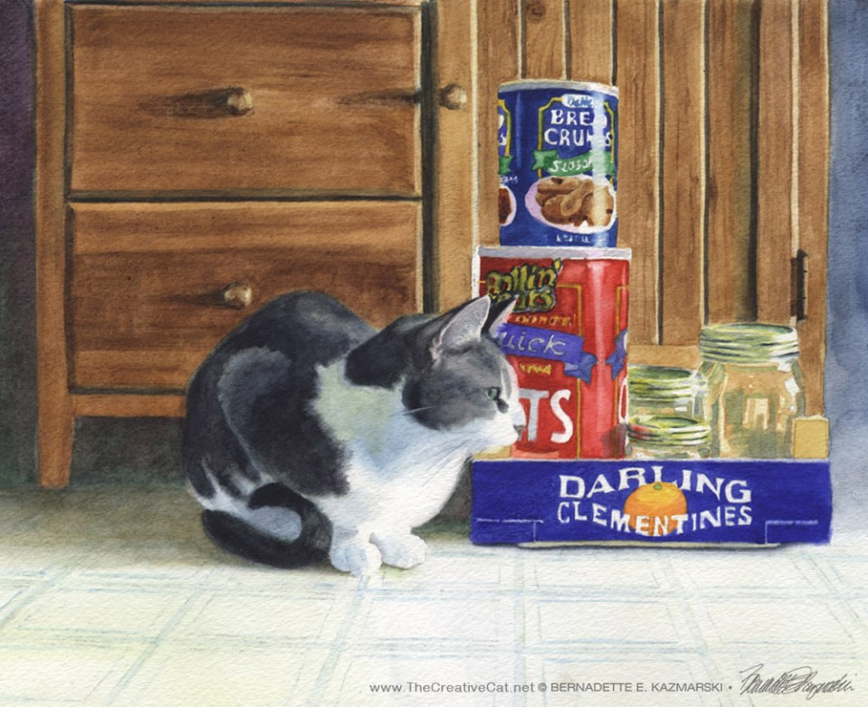 """Darling Clementine"", watercolor, 12″ x 9″ © B.E. Kazmarski"