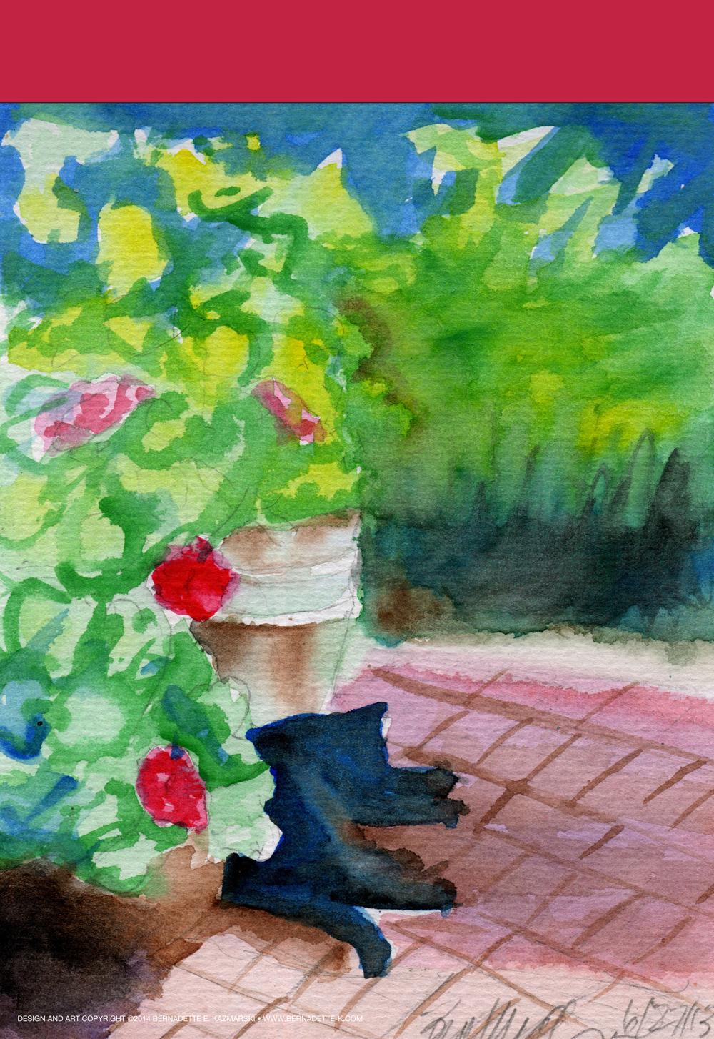 Garden Flag, Garden Sketch With Mimi